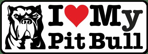 Aufkleber: I love my Pit Bull