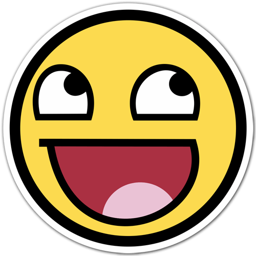 Aufkleber: Meme Smiley 1