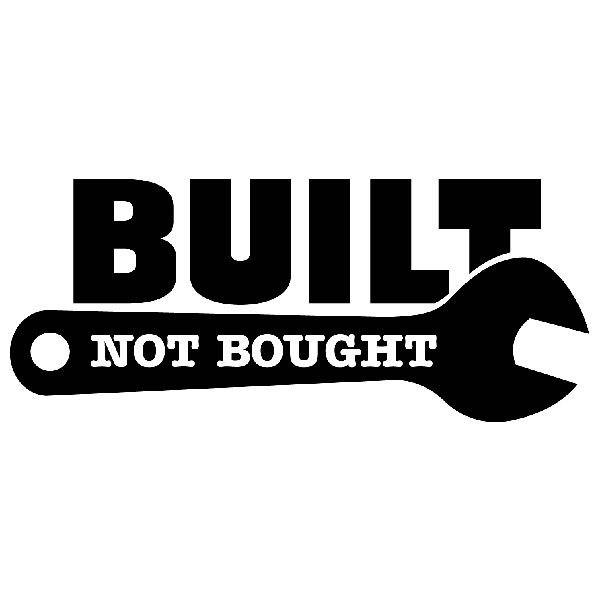 Aufkleber: Built Not Bought