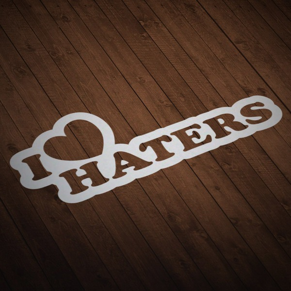 Aufkleber: I love Haters 3