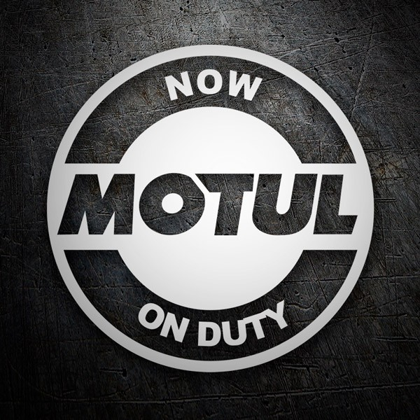 Aufkleber: Now Motul on Duty