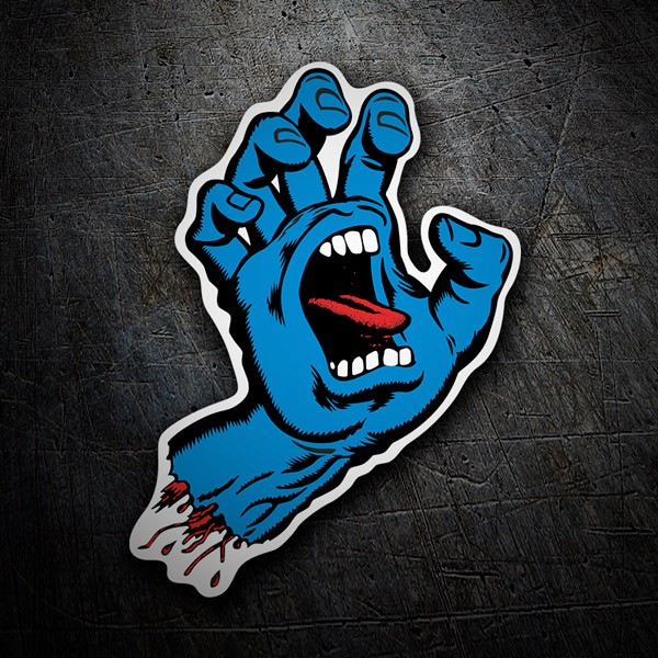 Aufkleber: Screaming Hand Santa Cruz blau