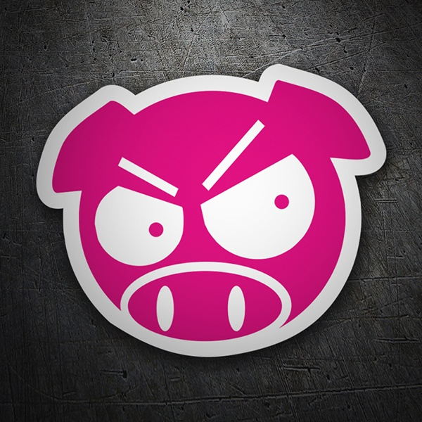 Aufkleber: Angry Pig JDM