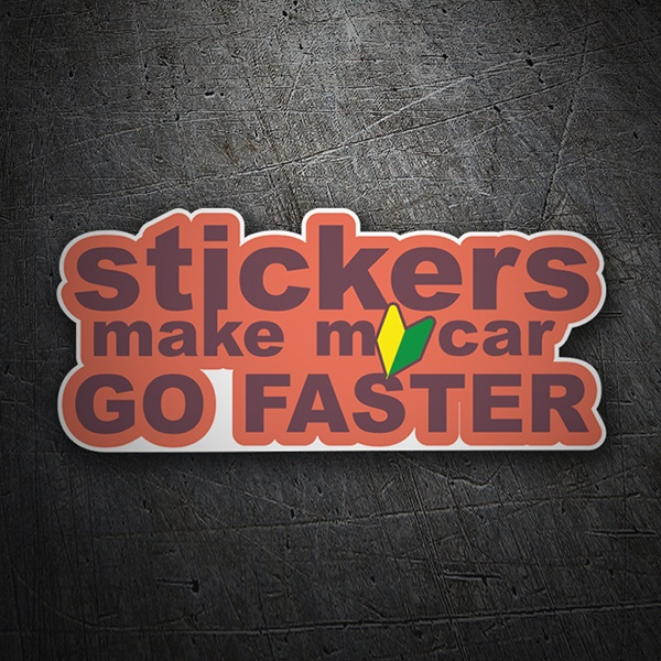 Aufkleber: Stickers make my car go faster