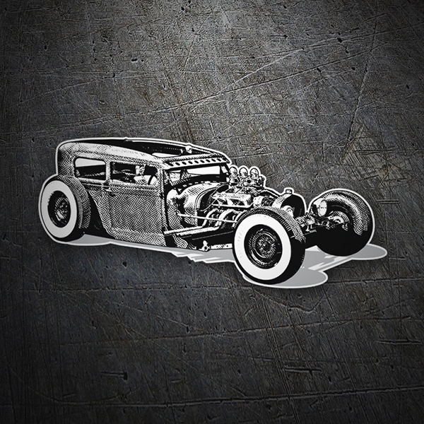 Aufkleber: Hot Rod Car