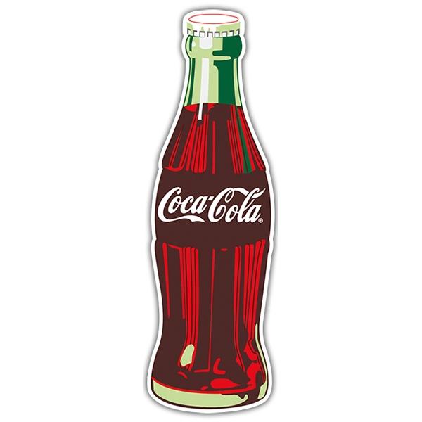 aufkleber coca cola flasche. Black Bedroom Furniture Sets. Home Design Ideas
