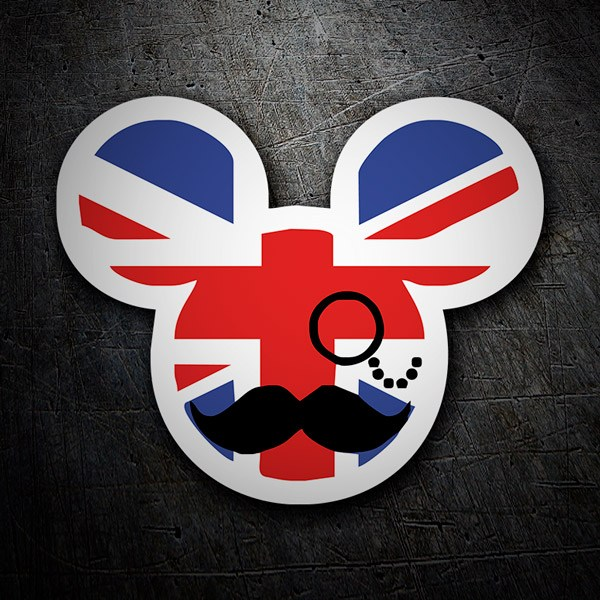 Aufkleber: Great Britain Mickey Mouse