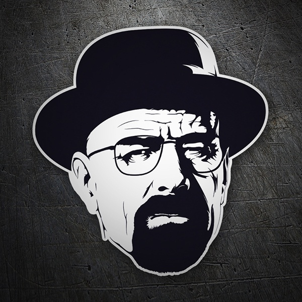 Aufkleber: Breaking Bad Walter White hat