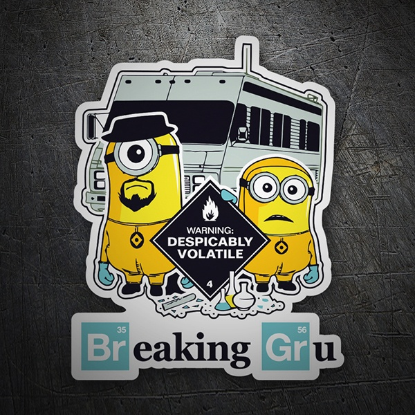 Aufkleber: Breaking Bad Minion