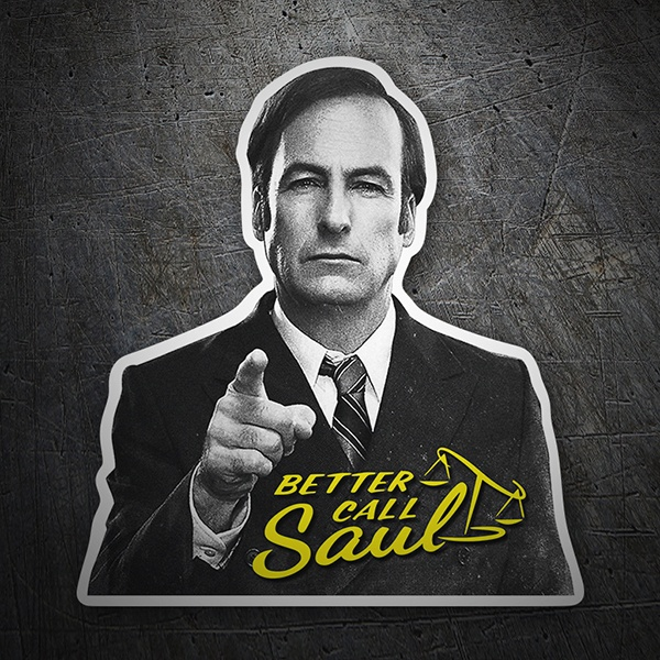 Aufkleber: Breaking Bad Better call Saul