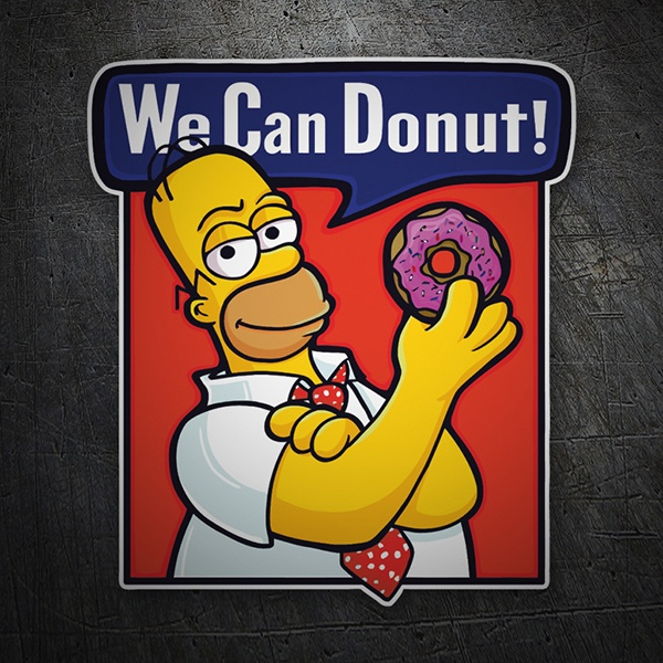 Aufkleber: We can Donut