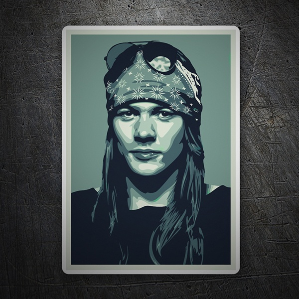 Aufkleber: Axl Rose Pop Art