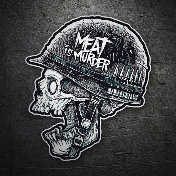 Aufkleber: Meat is Murder