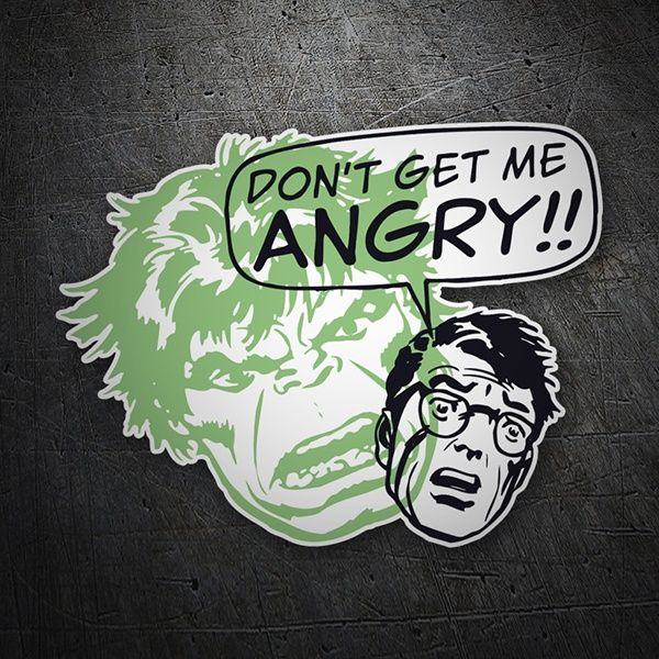 Aufkleber: Don´t get me Angry
