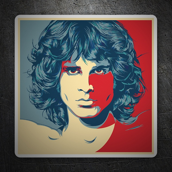 Aufkleber: Jim Morrison Pop Art