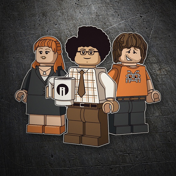 Aufkleber: Lego the it crowd