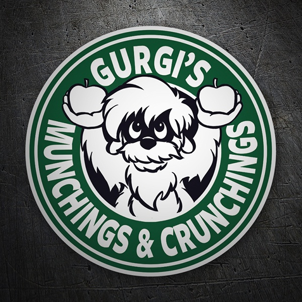 Aufkleber: Gurgi Munchings and Crunchings