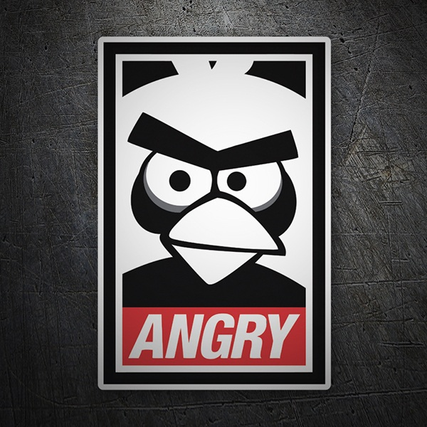 Aufkleber: Angry Birds Obey