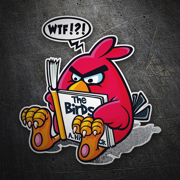 Aufkleber: Angry Birds Hitchcock