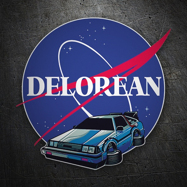 Aufkleber: Delorean Nasa