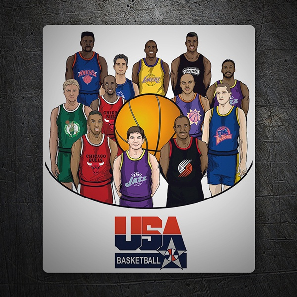 Wandtattoos: Dream team USA