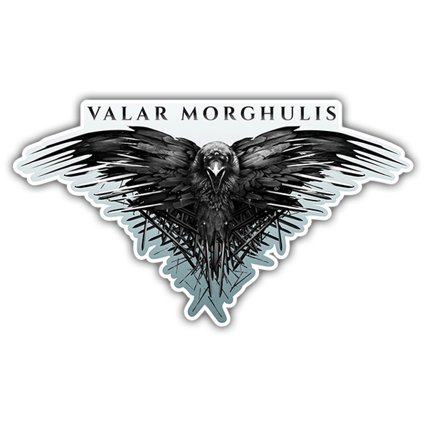 Aufkleber: Valar Morghulis - Game of Thrones