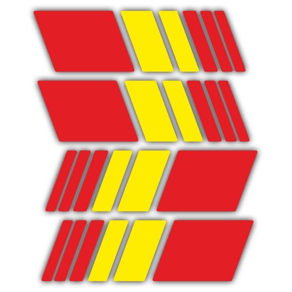Aufkleber Kit Streifen Spanien Helm Webwandtattoocom
