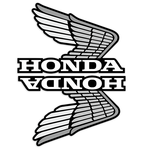 Aufkleber: Kit Honda mit retro Flügel Tank