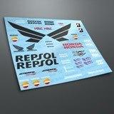 Aufkleber: Kit Honda CBR Repsol Racing 3