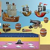 Kinderzimmer Wandtattoo: Pirate-Kit 3