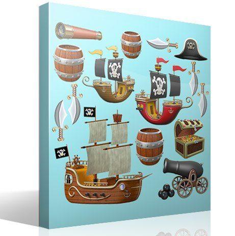 Kinderzimmer Wandtattoo: Pirate-Kit