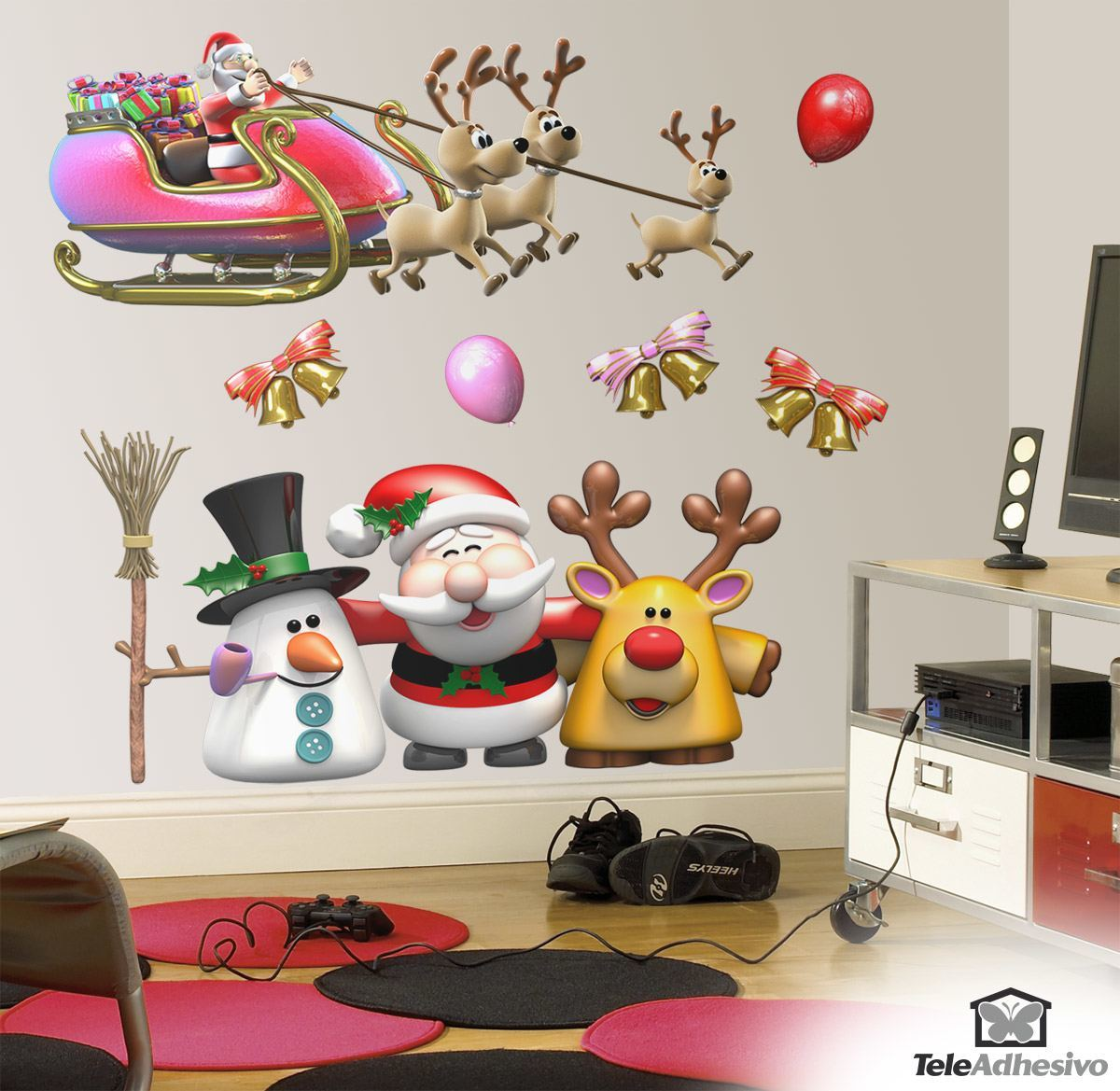 Wandtattoos: Weihnachtsmann-Weihnachts Kit