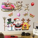 Wandtattoos: Weihnachtsmann-Weihnachts Kit 1