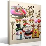 Wandtattoos: Weihnachtsmann-Weihnachts Kit 2