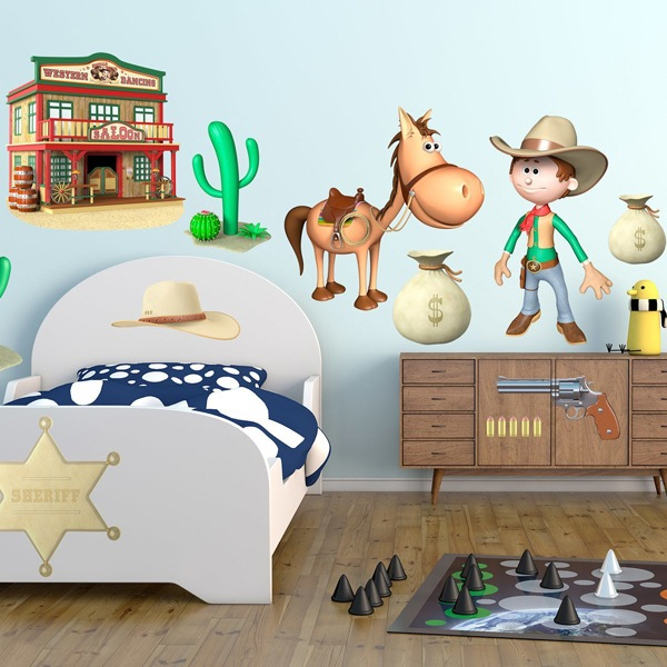 Kinderzimmer Wandtattoo: Kit Western Cowboys