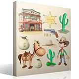 Kinderzimmer Wandtattoo: Kit Cowboy 4