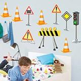 Kinderzimmer Wandtattoo: Verkehrszeichen Kit 3