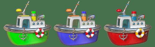 Kinderzimmer Wandtattoo: Drei Boote
