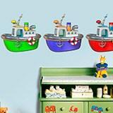 Kinderzimmer Wandtattoo: Drei Boote 3