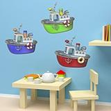 Kinderzimmer Wandtattoo: Drei Boote 5