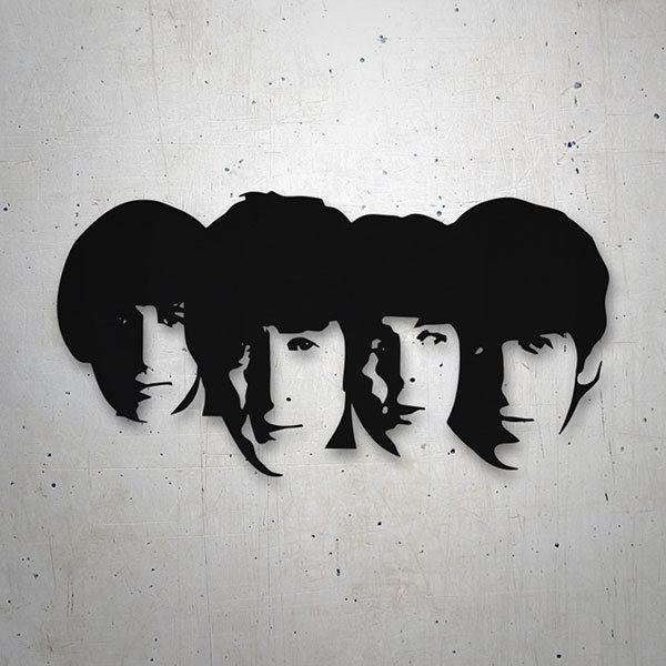 Aufkleber: The Beatles Gesichter