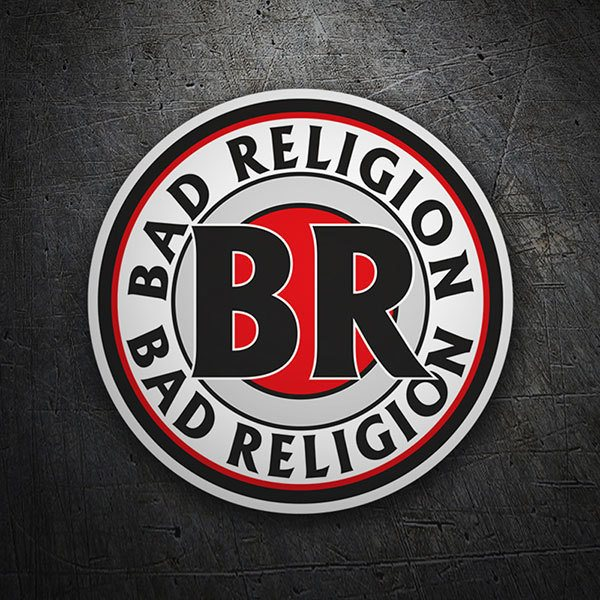 Aufkleber: Bad Religion Briefmarke