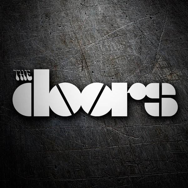 Aufkleber: Logo The Doors