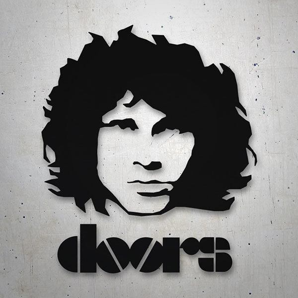 Aufkleber: Morrison The Doors logo