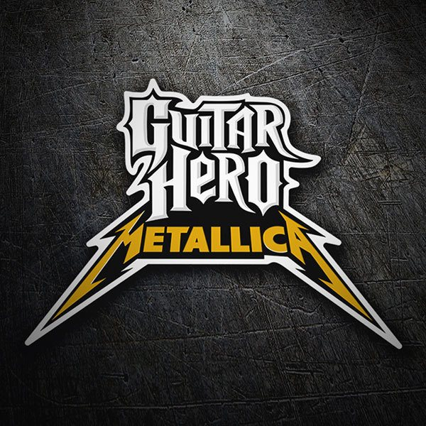 Aufkleber: Guitar Hero Metallica