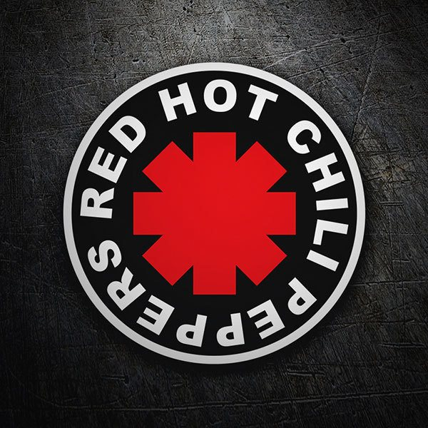 Aufkleber: Red Hot Chili Peppers Schwarz
