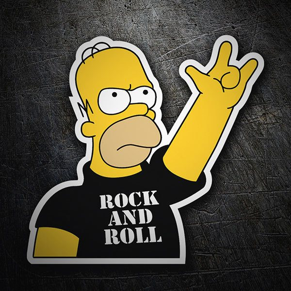 Aufkleber: Rock and Roll Homer