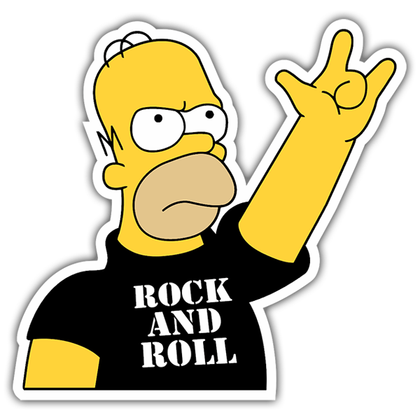 Aufkleber: Rock and Roll Homer  0