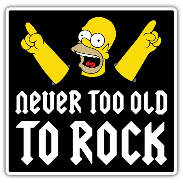 Aufkleber: Homer Never too old to rock