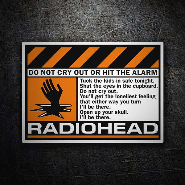 Aufkleber: Radiohead - Do Not Cry